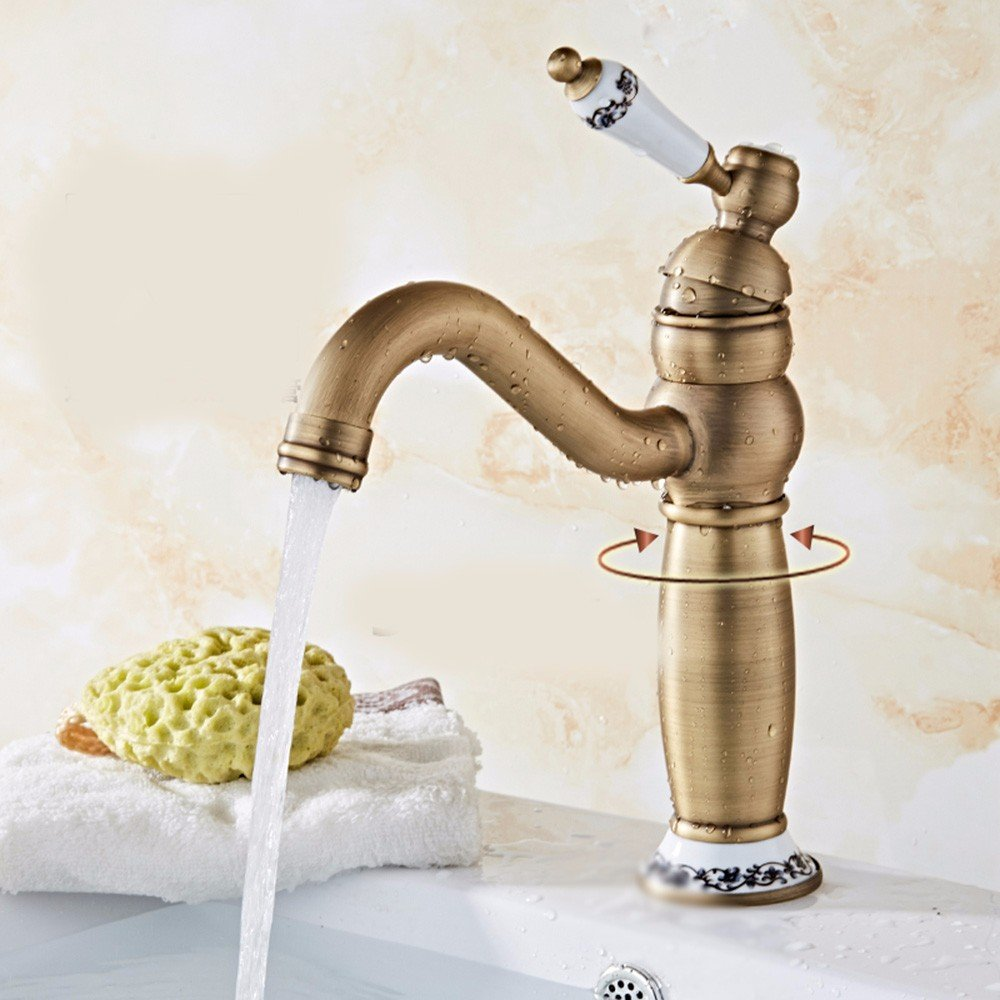 16 Hlluya Professional Sink Mixer Tap Kitchen Faucet Copper, bath, basin, hot and cold, and the sink faucet 3