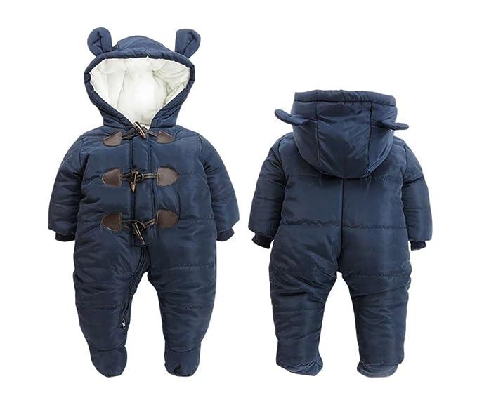 f46bd8adb Mordarli Baby Girls Boys Snowsuit Hoodie Romper Jacket Winter ...