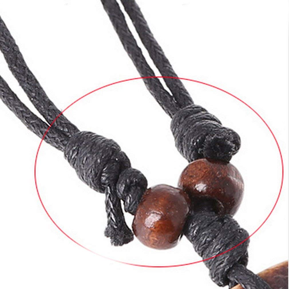 ningbao951 Fashion Double Loop Pendant Alloy Accessories Vintage Cowhide Necklace Fashion New Leather Necklace For Male and Female