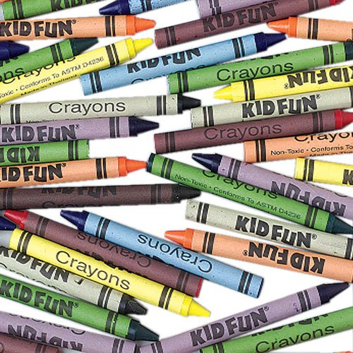 Kid Fun Crayons - Bulk - 2880 Pieces 1 pcs sku# 1777888MA by Kid Fun