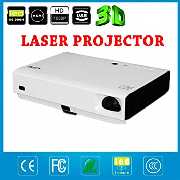 DLP Mini LED proyector láser 3d 1080p Full HD 4500 Lumens 20000: 1 ...