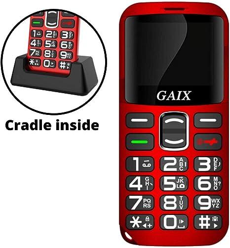 Gaix - Teléfono móvil con botón Grande para Personas Mayores ...
