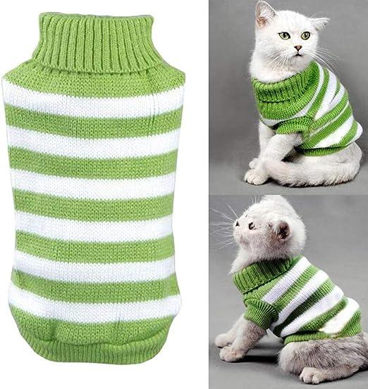 Yongqin - Suéter para Gato, Invierno para Mascota, Gato, Jersey elástico y cómodo para Gatos pequeños, Perros Chihuahua Pug: Amazon.es: Productos para mascotas
