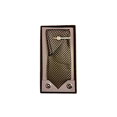 Mens Fashion Necktie, Hanky, Cufflinks, & Tie Bar Boxed Combo Set ~ Style 7751
