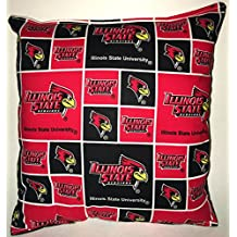 """Illinois State Pillow Red Bird Pillow Illinois State University Pillow NCAA HANDMADE In USA Pillow is approximately 10"""" X 11"""" ."""