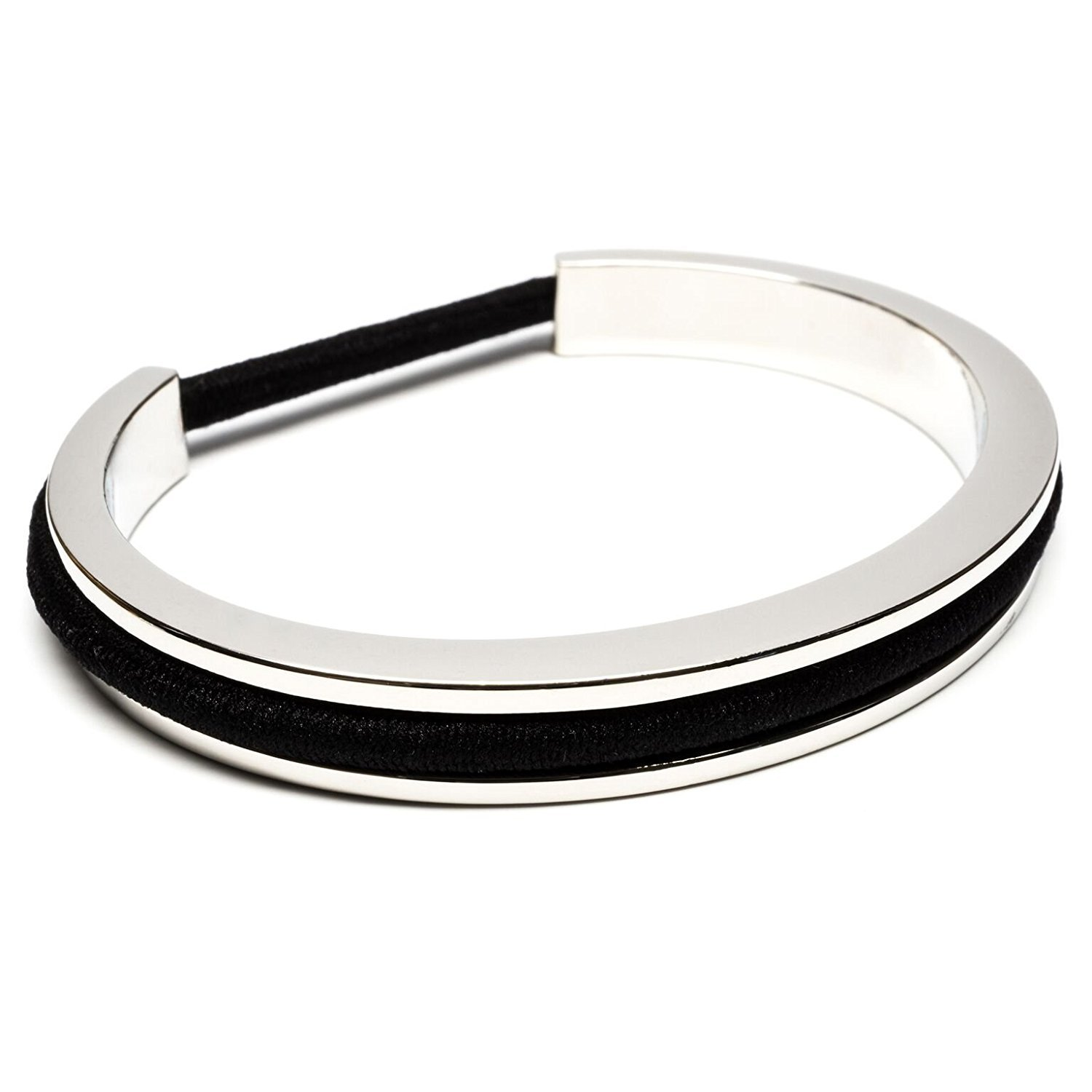 My Hair Tie Bracelet: Ella Design Hair Tie Bracelet - Stainless Steel Hair Tie Holder - Functional Fashion Accessory - Keeps Track of Hair Ties - Comfortable and Stylish