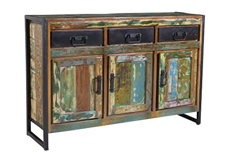 Credenza Industrial Fai Da Te : Credenza vintage industrial multicolor in ferro e legno massello