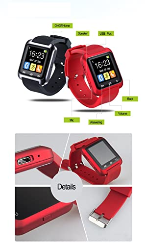 Amazon.com: Sky300® Red Color Smart Watch U80 Reloj Inteligente for Apple Iphone 5 5s 6 Plus Samsung S5 S4 Huawei Android Phone Sport Silicone Watch: Cell ...