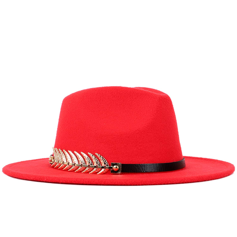 Ladies Wool Fedora Hats Autumn Winter Women Top Hat Felt Vintage Hats Classic Cylinder Bowler Hats