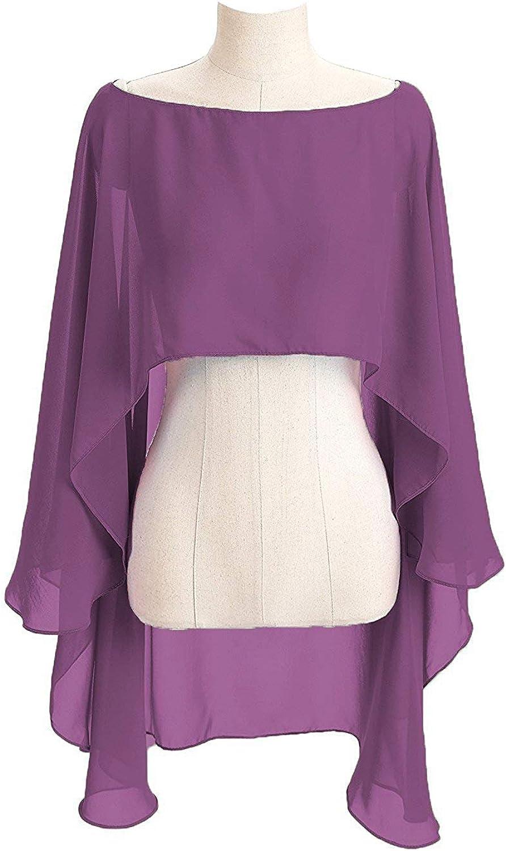 CoCogirls Stola in chiffon per abiti in diversi colori da gala o ricevimento azzurro Taglia unica da matrimonio da sera adatta a qualsiasi abito da sposa