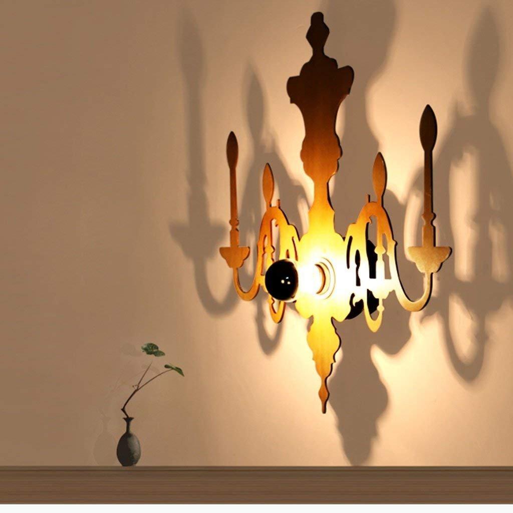 JU Wandleuchte Skulptur Schatten Wandleuchte Kreative Persönlichkeit Dekorative Kunst Wohnzimmer Schlafzimmer Holz Wandleuchten B07FZVYB2B | Sonderpreis