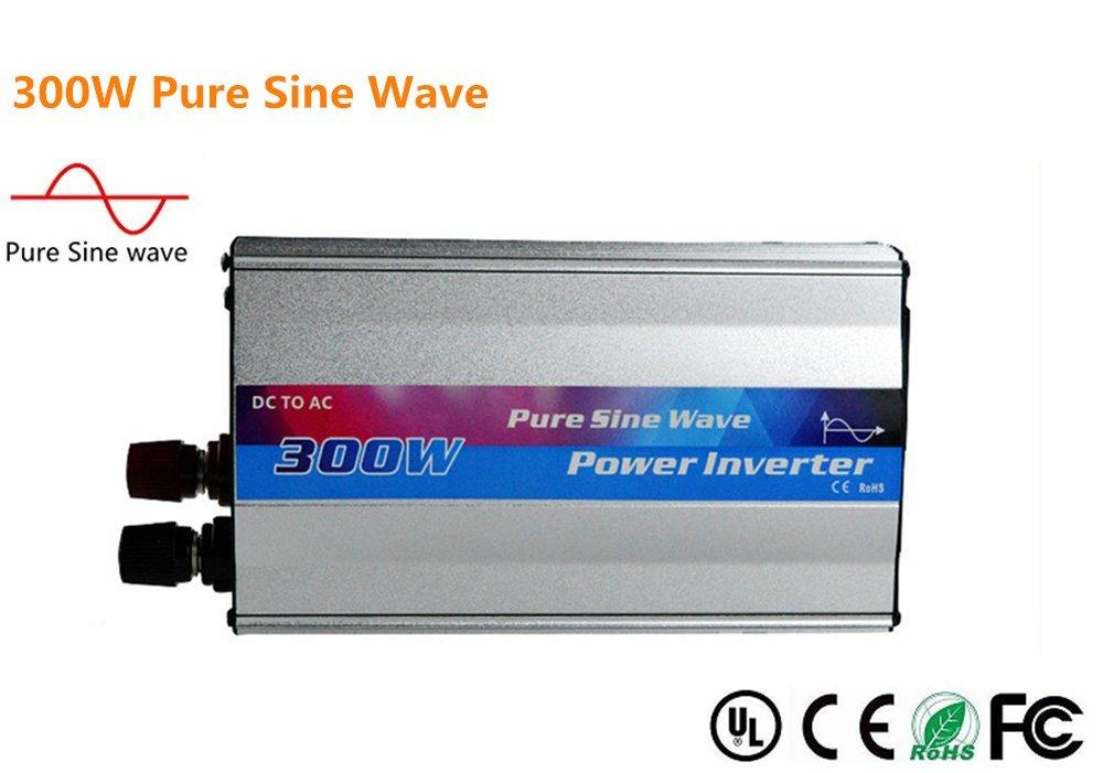 Pure Sine Wave Inverter, 12V Vehicle Inverter Change Portable Solar Power Inverter with Solar Panel for Car All Kinds of Household Appliances