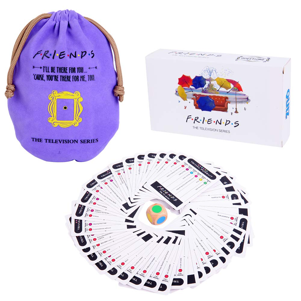 Friends TV Show Merchandise Trivia Quiz Card Games with 600 Questions for Friends Fans Bar Entertainment Game Night Sports Fun !