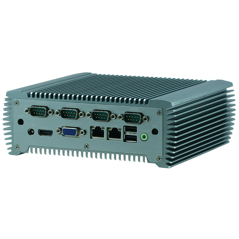Embedded Fanless Industrial Mini PC Intel Atom N2800 6 COM COM2 Support RS485 2 Gigabit Ethernet with PXE Walk on LAN Barebone System Partaker Q10 B07C1TPR66 4G RAM 32G SSD|Q10+I5 3317U Q10+I5 3317U 4G RAM 32G SSD