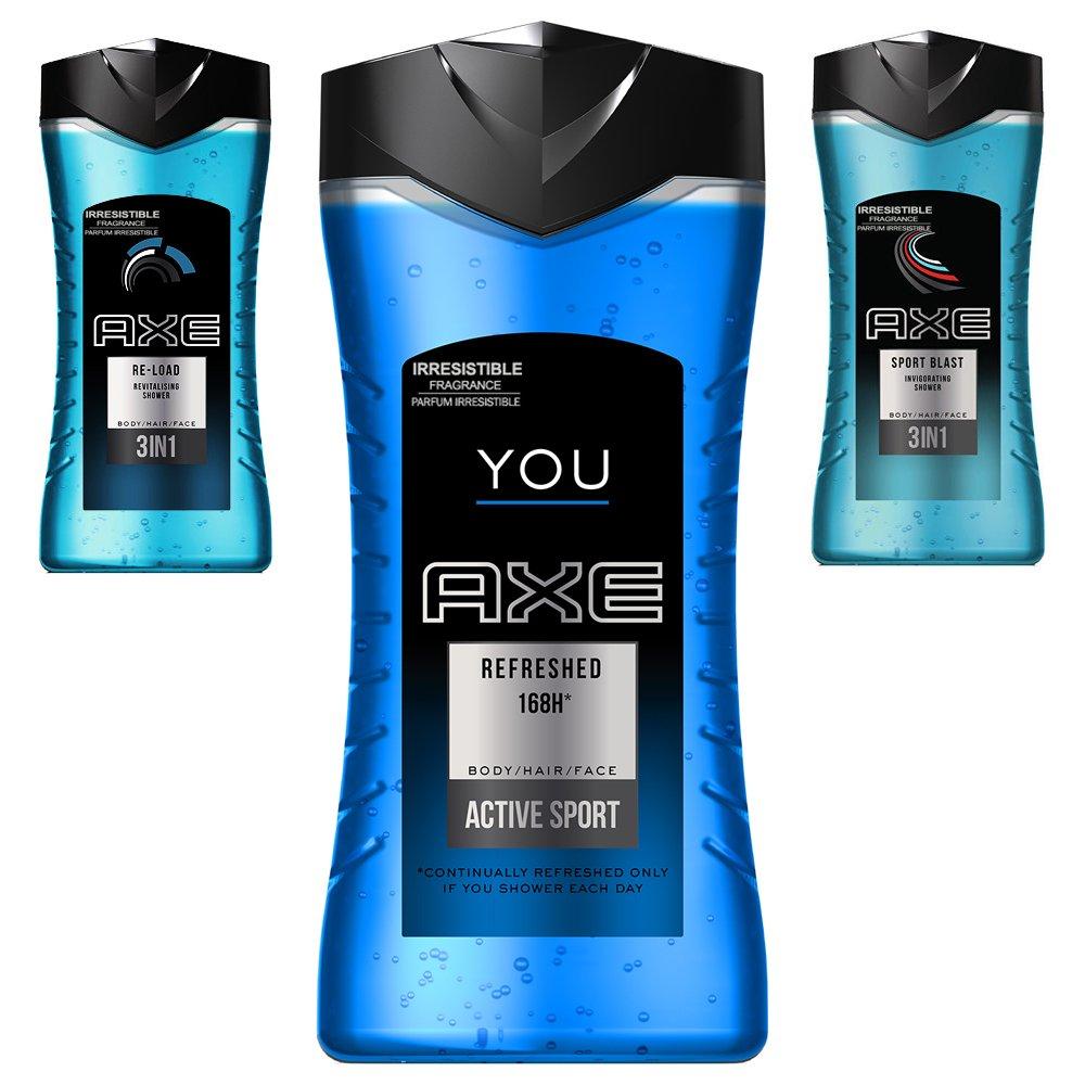 b92f619caa0f Amazon.com: Axe 3 IN 1 Shampoo Body Wash and Face 250 ml Shower Gel ...