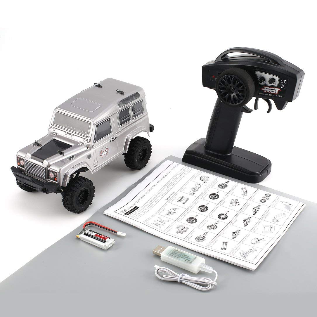 RGT 136240-D90 1/24 Maßstab 2.4Ghz 4WD High Speed RC Crawler Climber Buggy Geländewagen Modell RTR mit 3 Batterien Monllack