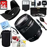 Sony DT 18-250mm f/3.5-6.3 High Magnification Autofocus A-Mount Lens Alpha (SAL18250) + 64GB Ultimate Filter & Flash Photography Bundle