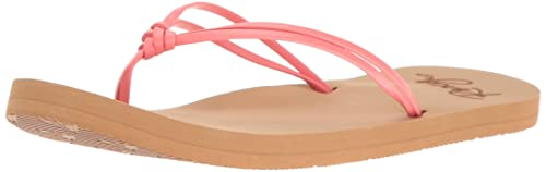 f82d00f5416236 Roxy Girls  RG Lahaina Flip Flop Sandals Flat Coral 1 M US Little Kid