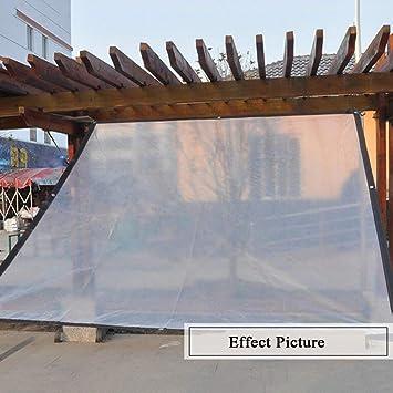 Giow Toldo Plástico Impermeable A Prueba de Viento Transparencia Lona Polietileno Mantener Caliente Pérgola Cubierta Invernadero, Multi-tamaño Opcional (Tamaño: 3 * 3m): Amazon.es: Jardín
