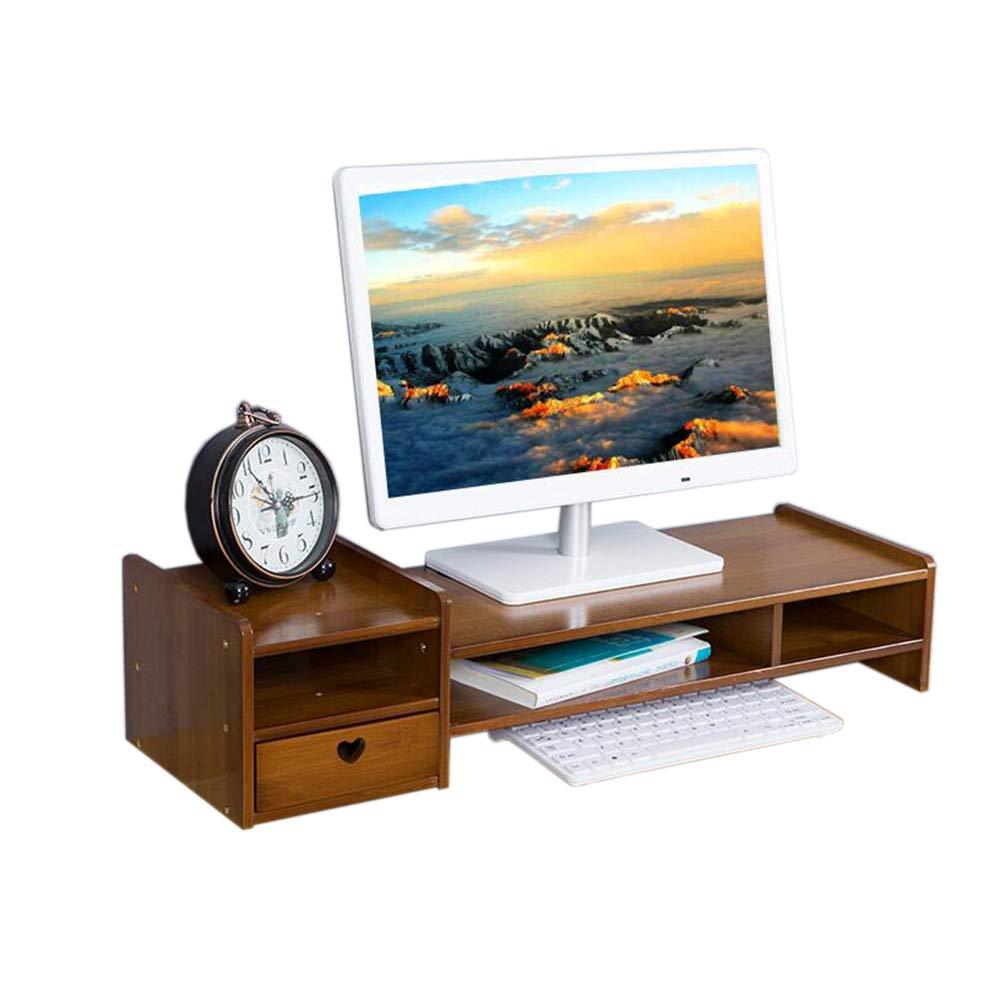 Single drawer JCAFA Shelves Desktop Computer Monitor Heightening Storage Keyboard Bracket Desktop Organizer Office Supplies, A Variety of Styles (color   Three Drawers)