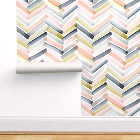 Spoonflower Peel And Stick Removable Wallpaper Modern Watercolor