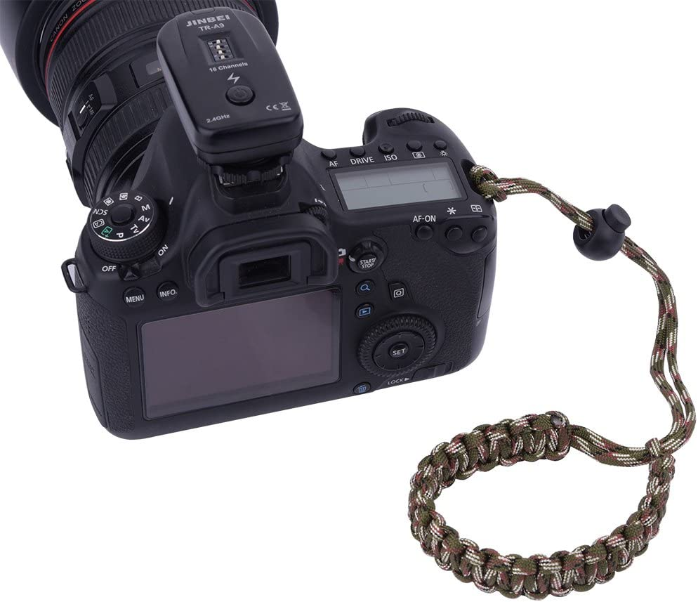 Outdoor Emergency Bracelet V BESTLIFE Nylon Hand Wrist Strap for SLR Camera Outdoor Survival Bearing 250 Pounds Hand Wrist Lanyard Army Green Camo