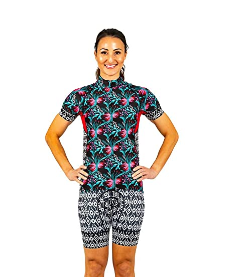 87d796bf9 Amazon.com  Shebeest Prickly Pear Divine Women s Cycling Jersey ...