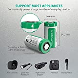 CR123A Lithium Batteries [Upgraded] RAVPower 3V Lithium Battery Non-Rechargeable, 16-Pack, 1500mAh Each, 10 Years of Shelf Life for Arlo Cameras, Polaroid, Flashlight, Microphones and More (Green)