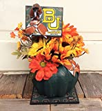 AG Designs Fall Decor - Floral Pumpkin College Football Mums Baylor U #718/24