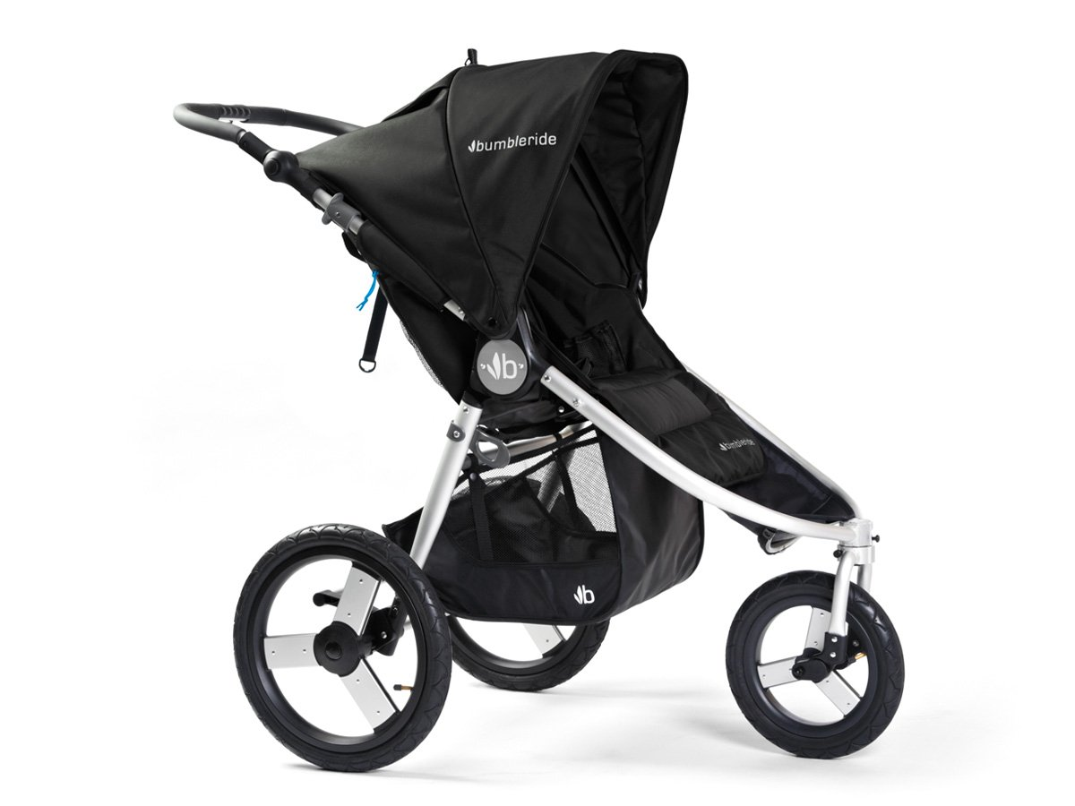 Bumbleride Speed Jogging Stroller, Silver Black