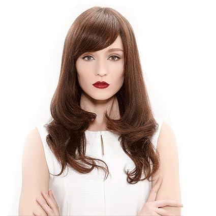 Peluca Peluca de pelo rizado largo europeo y americano Mujeres de moda natural esponjoso de alta