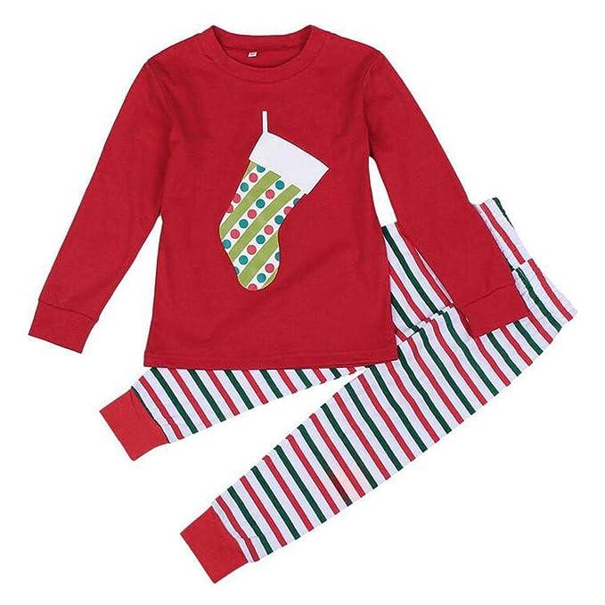 Hzjundasi Familia de Coincidencia de Patrones de Navidad Pijamas Set - Hombres Mujer Chico Niña Niños