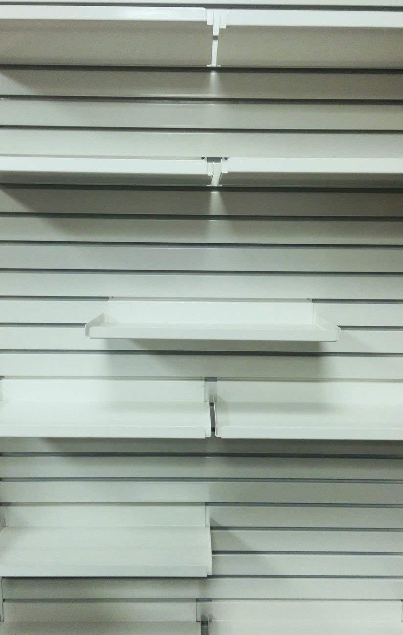 Metal Slatwall Shelf w// .5 H Lip Black 5 Pack 7.5 D x 15.5 L