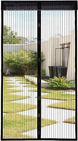 GOUDU Mosquitera Puerta Magnetica, Mosquiteras Enrollables con Durable Mantiene los Mosquitos de Insectos Fuera, para Puertas Correderas - Negro 85x205cm(33x81inch): Amazon.es: Hogar
