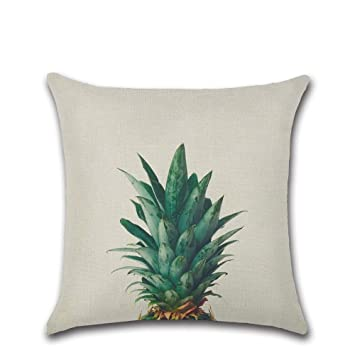 Kissenbezug Kissenbez/üge Tropisch Bl/ätter Pflanzen Drucken Deko Kopfkissen-Bezug zum Home Kissen Kissenh/ülle Ananas