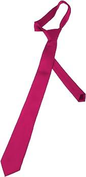 Corbata de color rosa fucsia con un acabado satinado, para hombre ...