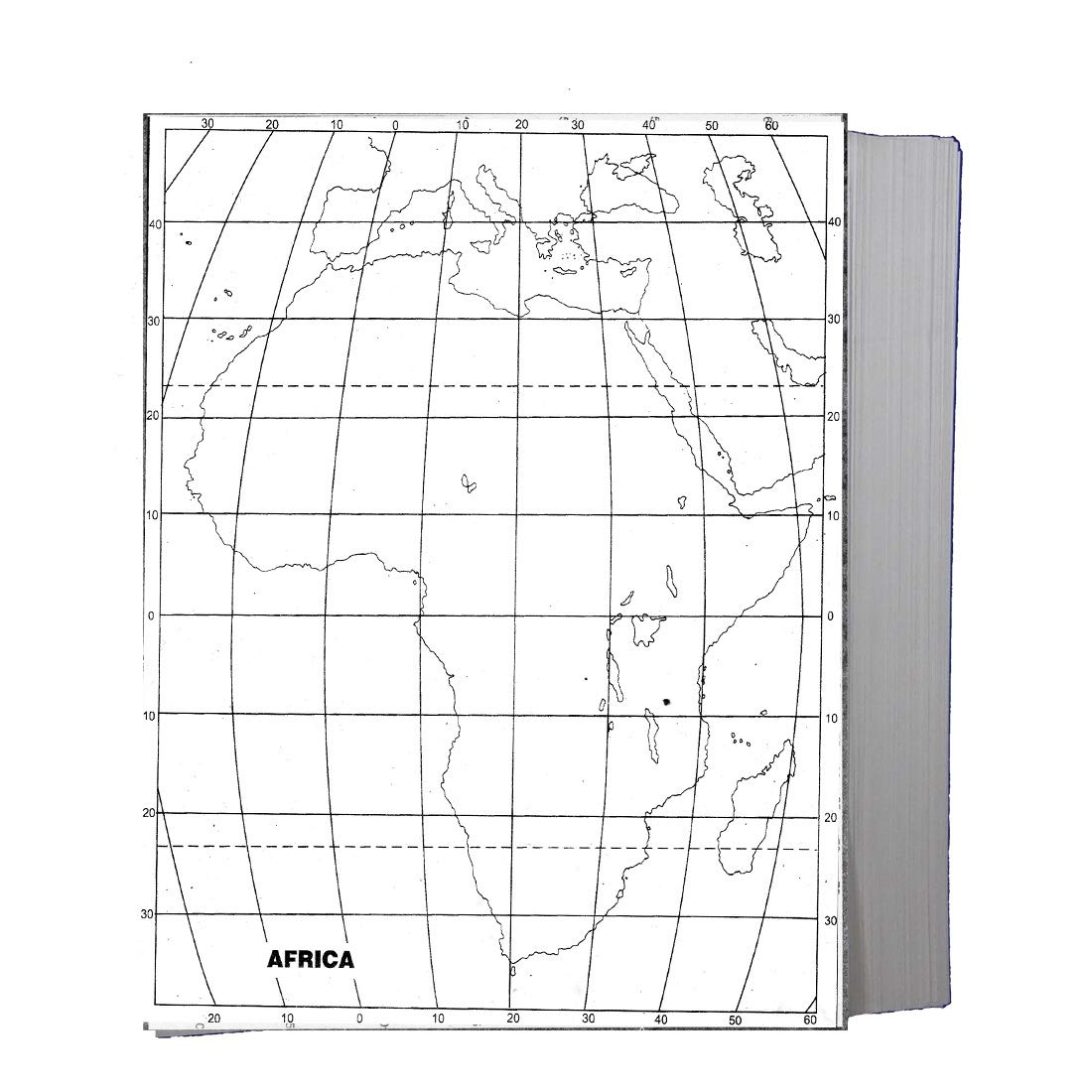 Craftwaft Blank Physical Map Of Africa For Map Pointing Pack Of 100 Amazon In Office Products