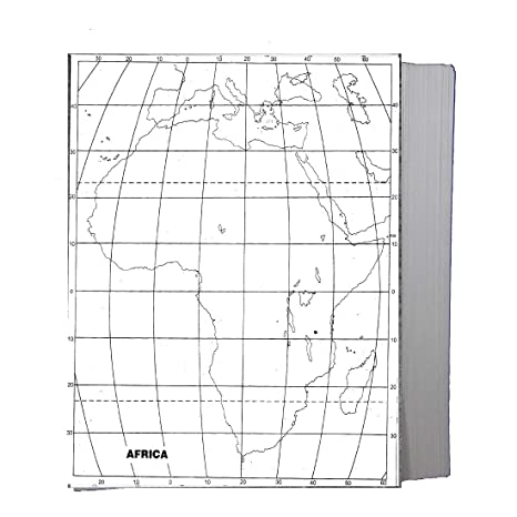 Blank Physical Map Of Africa CRAFTWAFT BLANK PHYSICAL MAP OF AFRICA FOR MAP POINTING PACK OF