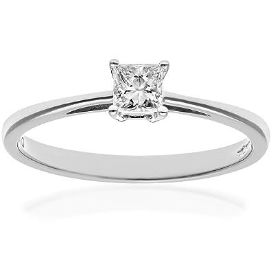 selección premium reputación confiable nueva colección Naava - Anillo para Mujer de Platino 950 con Diamante Corte ...