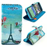 HTC Case,HTC M8 Case,M8 leather case,M8 wallet case,HTC ONE m8 case,Flipcase Case Cover For HTC M8 ,Cute Cartoon Print Flip Wallet Leather Case Cover With Credit Card Slots And Stand Function For HTC One M8 For Men For Women