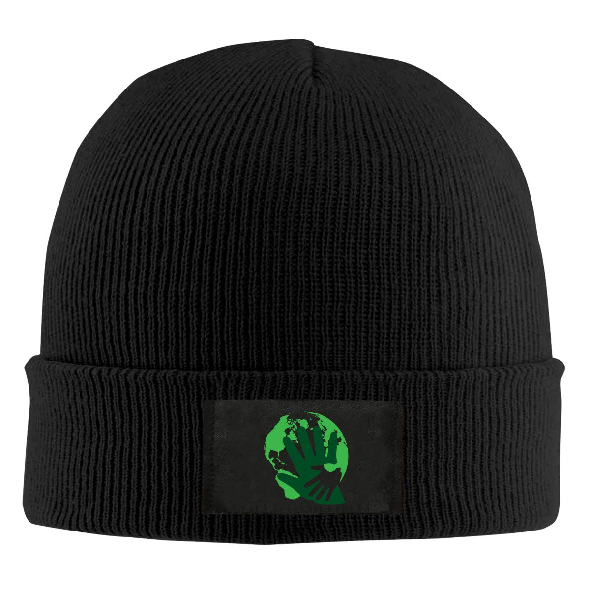 Embrace The Earth in Earth Day Unisex Winter Printed Warm Knitting Hats Skull Cap