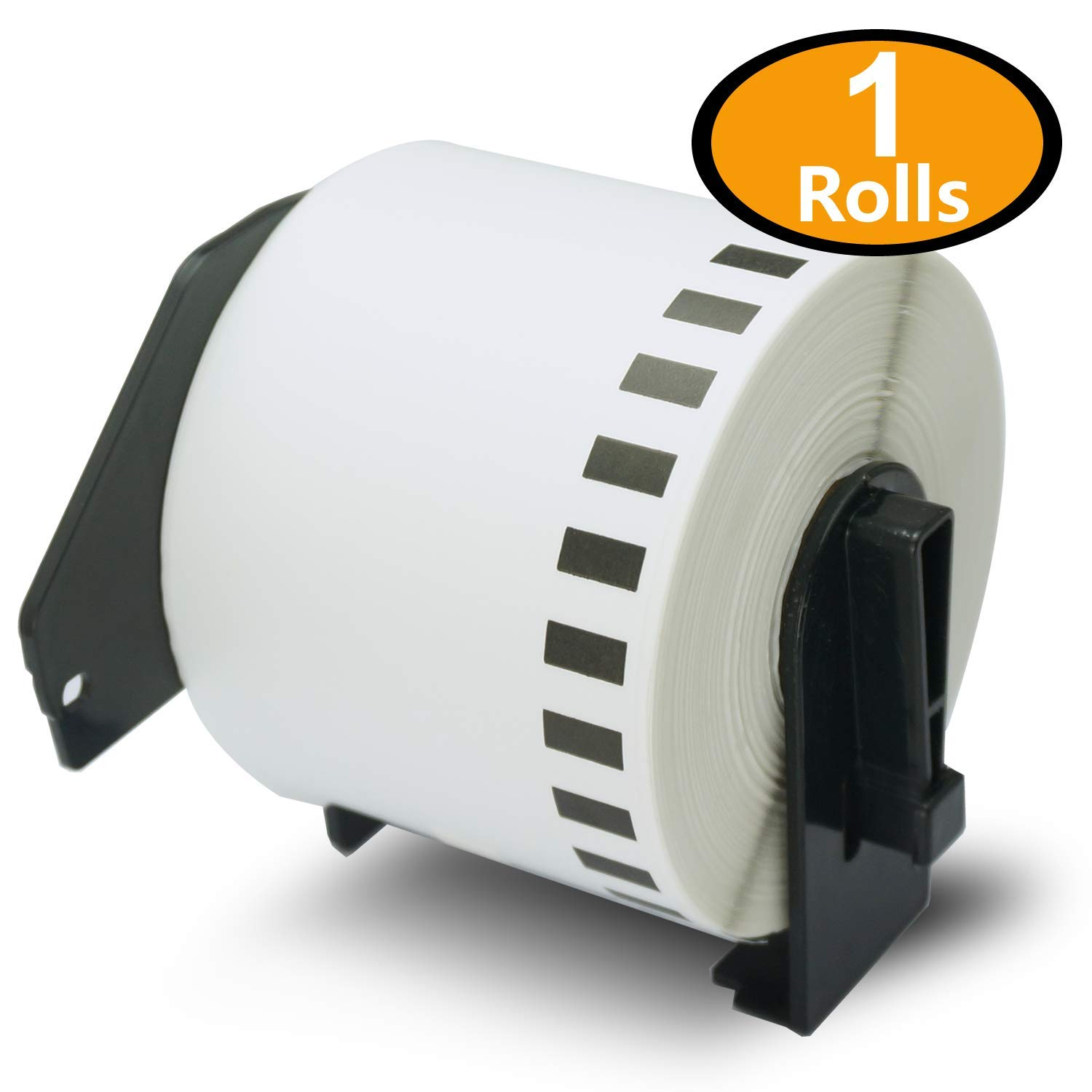 10 Rolls Brother-Compatible DK-22205 62mm x 30.48m Continuous Length Paper Tape Labels With Refillable Cartridge BETCKEY DK22205-Y10