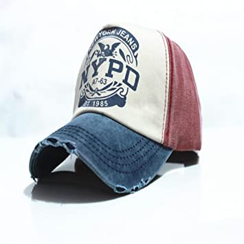 e812ad5dd1928 Buy Unisex American European NYPD Multi Coloured Ladies Mens Boys Cap Online  at Low Prices in India - Amazon.in