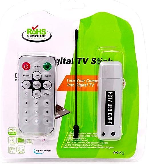 Vinciann Antena Receptor DAB TV USB Canales señal + Mando a ...