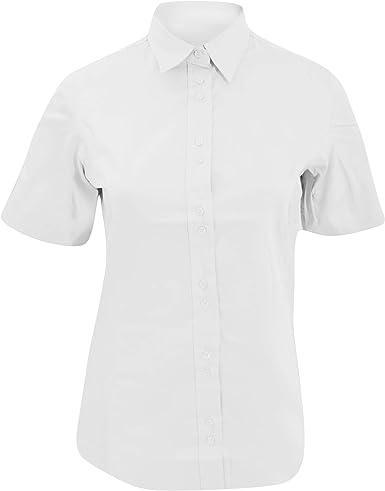 Kustom Kit- Camisa de empresa de manga corta para mujer