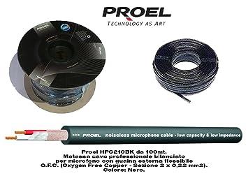 Proel Hpc210Bk - Bobina cable de micrófono balanceado