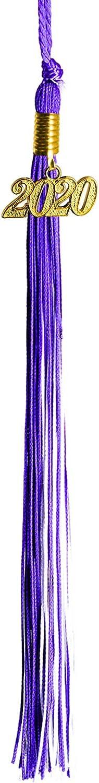 GraduationMall Single/&Multiple Color Graduation Tassel with 2020 Year Charm 9