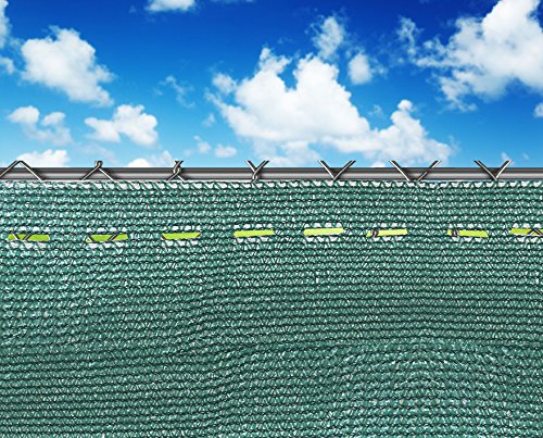 Shatex Pro Security & Privacy Windscreen, Dark Green, 4'x40' with Lock Holes and Zip Ties for Quick Installation, Heavy Duty Shade Mesh Fence for Garden Yard/Construction Site/Deck/Balcony Pool