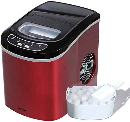VIVOHOME Portable Electric Automatic Countertop Ice Cube Maker Machine 26lbs//day Silver ETL Listed