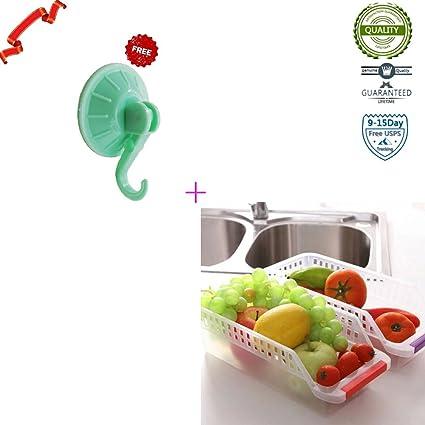 Vinilo para nevera y congelador de almacenamiento bin, bandeja de cocina con mango, 30